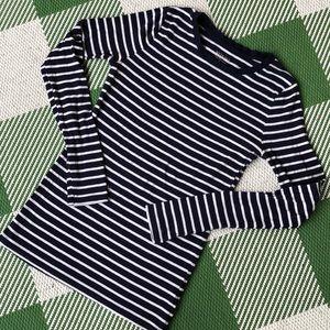 Merona dark blue stripe long sleeve shirt